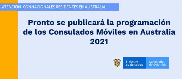 Pronto se publicará la programación de Consulados Móviles en Australia